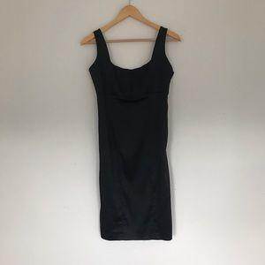CALVIN KLEIN   silky black sheath cocktail dress